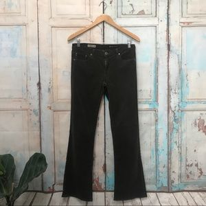 AG The Angel Bootcut Olive Green Corduroy Pants